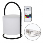 Table Lamp KENSI 7 colors, USB cable and controller IP44 1x0,5W LED 80lm H.28xD.17cm White/Black
