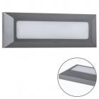 Wall Lamp FRESNO IP65 1x3,8W LED 280lm 4000K L.23xW.2,7xH.8cm ABS+PC Anthracite