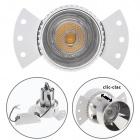 Downlight HEKA round 1x10W LED 850lm 2700K L.14,5xW.8xH.9,5cm Aluminium Silver