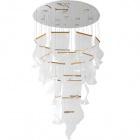 Ceiling Lamp CLAIRE 150+150W LED H.Reg.xD.97,5cm Chrome