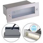 Wall Lamp encastrar MURDOCH IP44 1,2W LED 45lm 4000K W.11xW.4,5xH.5,5cm Aluminum