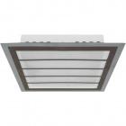 Plafond DRESDEN square 24W LED 4000K Brown/Chrome