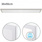 Surface Mounted Panel VOLTAIRE 30x90 72W LED 5760lm 4000K 120° W.90xW.30xH.2,3cm Nickel