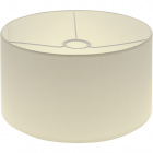 Lampshade CIPRIOTA round fabric PVC8886 with fitting E27 H.17xD.30cm Natural (Raw)