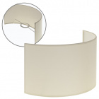Lampshade CIPRIOTA round fabric PVC802 with fitting E27 L.30xW.14xH.17cm Beije