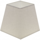 Lampshade CIPRIOTA square prism fabric PVC8886 with fitting E27 L.15xW.15xH.14cm Natural (Raw)