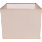 Lampshade ESPANHOL square with fitting E14 L.16xW.16xH.13cm Beije
