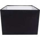 Lampshade GREGO square with fitting E14 L.20xW.20xH.15cm Black