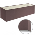 Lampshade ESPANHOL rectangular with fitting E14 L.75xW.20xH.20cm Brown
