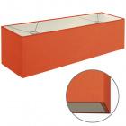Lampshade ESPANHOL rectangular with fitting E14 L.75xW.20xH.20cm Orange