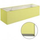 Lampshade ESPANHOL rectangular with fitting E14 L.75xW.20xH.20cm Green