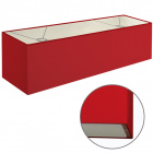 Lampshade ESPANHOL rectangular with fitting E14 L.75xW.20xH.20cm Red