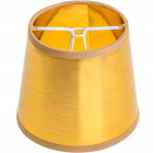 Lampshade LITUANO round & conic small with clamp H.10xD.12cm Gold