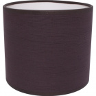 Lampshade ROMENO round fabric Sari with fitting E14 H.14xD.16cm Brown