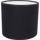 Lampshade ROMENO round fabric Sari with fitting E27 H.14xD.16cm Black