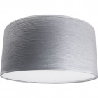Lampshade ROMENO round with top fabric Sari with fitting E27 H.20xD.35cm Grey