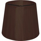 Lampshade AUSTRALIANO round & conic with clamp H.10xD.12cm Brown