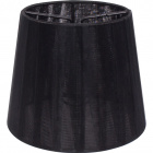 Lampshade AUSTRALIANO round & conic with clamp H.10xD.12cm Black