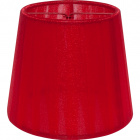 Lampshade AUSTRALIANO round & conic with clamp H.10xD.12cm Red