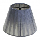 Lampshade AUSTRALIANO round & conic pleated fabric Organza with clamp H.10xD.14cm Grey