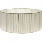 Lampshade JORDANO round large fabric Organza with fitting E27 H.21xD.50cm Ivory