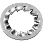 Metal knurled washer D.18x0,9mm, hole 10,5mm