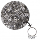 Brass ring D.0,8cm chrome (bag 1000pc)