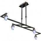 Frame for Ceiling Lamp DUBAI 4xE14 L.82xW.30xH.Reg.cm Antique Brass