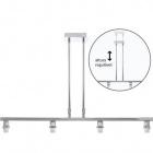 Frame for Ceiling Lamp SYDNEY 4xE14 L.75xW.12xH.Reg.cm Chrome