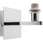 Base for Wall Lamp SYDNEY 1xE14 L.12xW.15xH.13cm Chrome