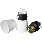E22 plastic lampholder with white switch