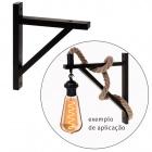 Base for Wall Lamp ESQUADRO square L.3xW.27,8xH.31cm Wood Black