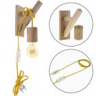 Wall Lamp BASIC 1xE27 Wood Yellow/Wood