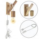 Wall Lamp BASIC 1xE27 Wood White/Wood