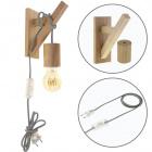 Wall Lamp BASIC 1xE27 Wood Grey/Wood
