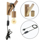 Wall Lamp BASIC 1xE27 Wood Black/Wood