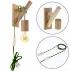 Wall Lamp BASIC 1xE27 Wood Green/Wood