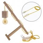 Table Lamp BASIC 1xE27 L.12xW.27xH.39cmWood Yellow/Wood