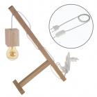 Table Lamp BASIC 1xE27 L.12xW.27xH.39cmWood White/Wood
