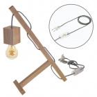 Table Lamp BASIC 1xE27 L.12xW.27xH.39cmWood Grey/Wood