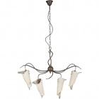 Ceiling Lamp ASTI 4xE14 L.80xW.23xH.Reg.cm Glass Brown