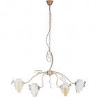 Ceiling Lamp AREZO 4xG9 L.90xW.12xH.Reg.cm Glass Brown