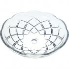 Crystal bobech D.15cm central hole 10mm+ 5 sides transparent