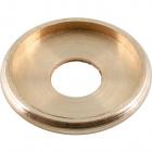 Brass tubecover D.25xD.3,5cm, D.interior=25mm, thread 10,5mm
