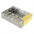 Transparent/yellow compact screwless connector for rigid cable 5
