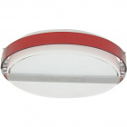 Plafond ISILDA 4xE14 H.11xD.42cm Plastic Red/White