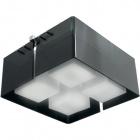 Plafond ROBERTA square 4xE27 L.41xW.41xH.21cm Black/Chrome