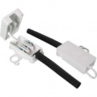 White plastic connecting box with rubber tube 3x1.5mm2 4,9x2,6x1,2cm