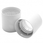 White plain outer shell for E27 3-pieces lampholder, in thermoplastic resin