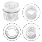 White half threaded outer shell w/reduced thickness for E27 3-pieces lampholder, thermoplastic resin